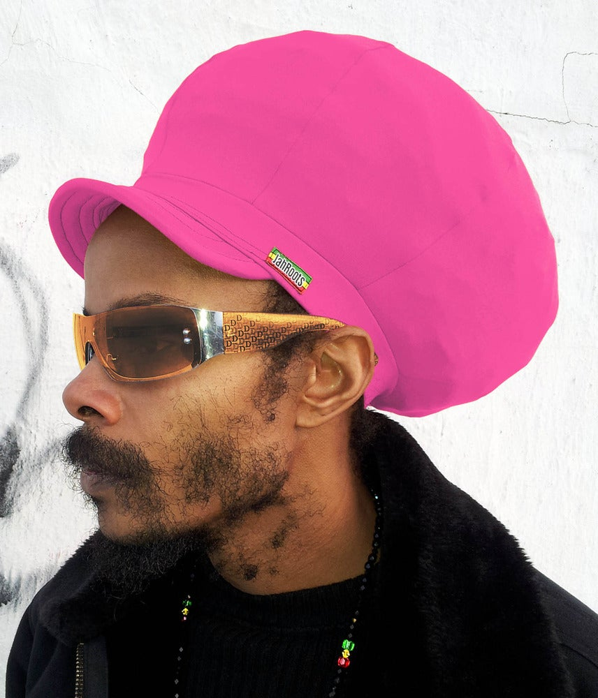 Image of Jah Roots Stretch Hats With Beak (Pink)