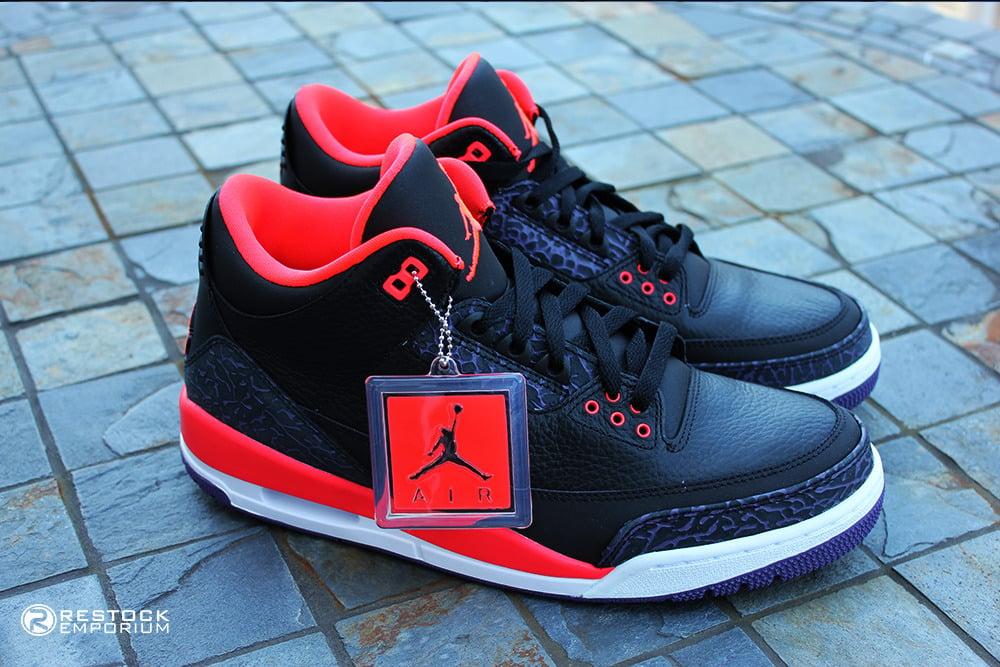 low priced 6ed4a 98b8d Image of Air Jordan 3 Retro - Bright Crimson