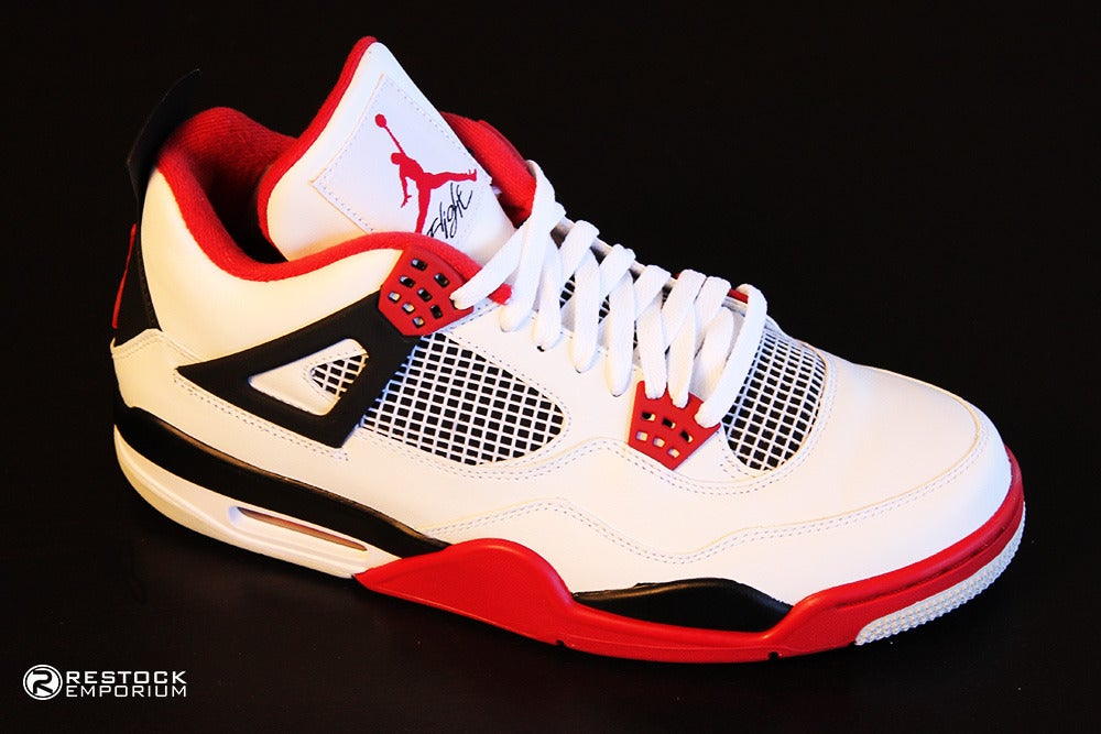 best sneakers fc8cc c7dd2 Image of Air Jordan 4 Retro - Fire Red