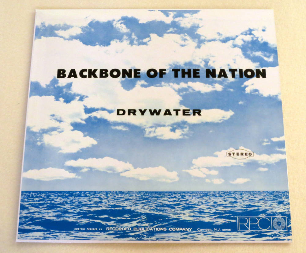 Image of DRYWATER ~ BACKBONE OF THE NATION ~ lp & 7inch (TIME-LAG 057/058)