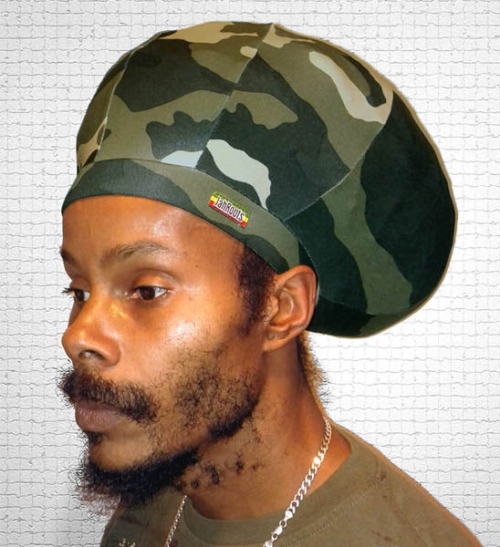 Image of Jah Roots Stretch Hats (Camo)