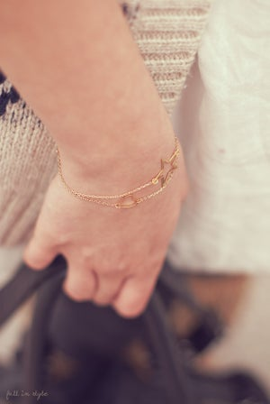 Image of Pulsera Delicate Heart & Star