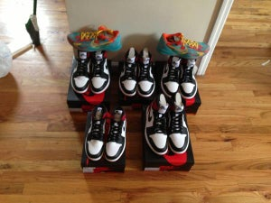 Image of JORDAN RETRO 1 BLACK TOE
