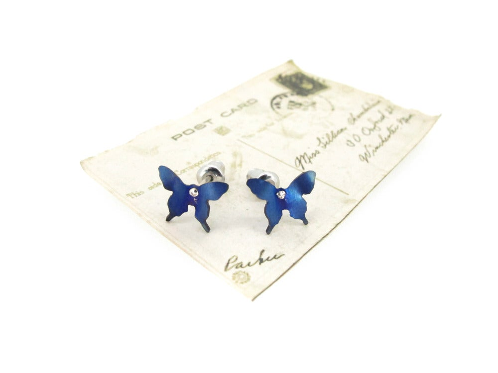 Image of Springtime Butterfly stud earrings