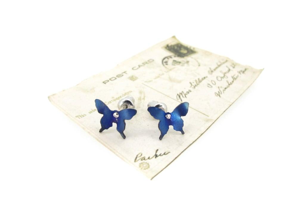 Image of Springtime Butterfly stud earrings