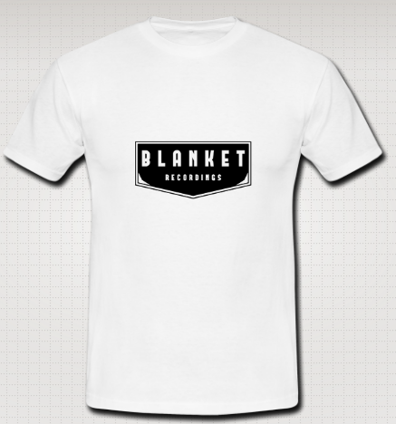 Image of BLANKET RECORDINGS- Unisex white cotton t-shirt
