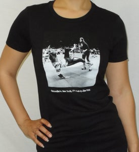 "Image of Roller Derby ""Uniondale, New York, 1974"" WOMEN'S shirt (Black)"