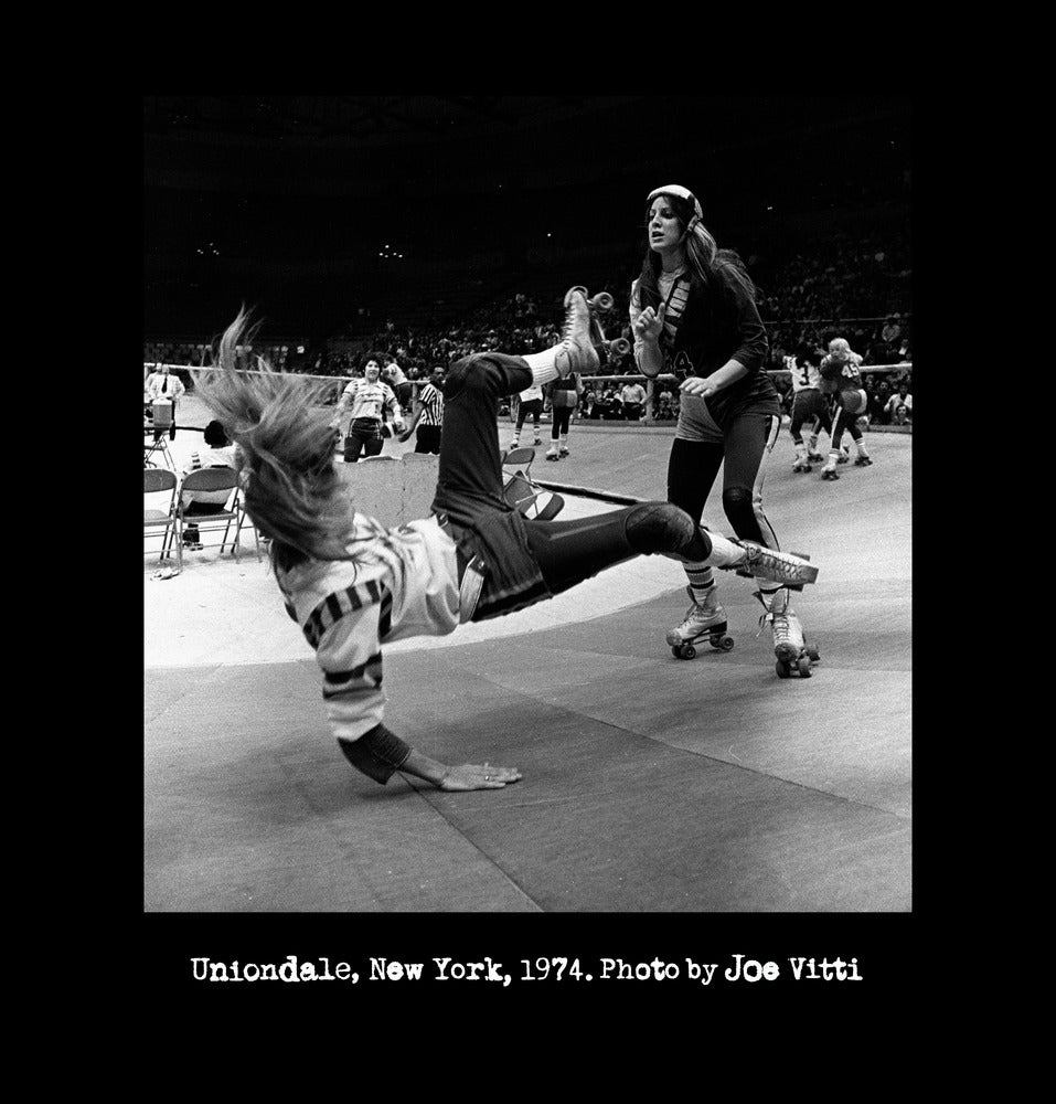 """Image of Roller Derby """"Uniondale, New York, 1974"""" WOMEN'S shirt (Black)"""