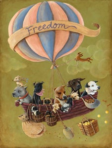 "Image of ""Freedom""  signed 11x14 Giclee art print"