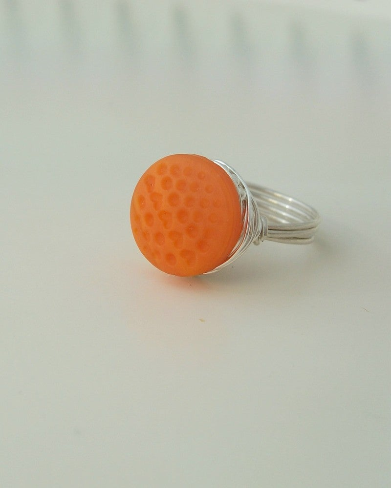 """Image of """"Summer Sweet"""" vintage button ring"""