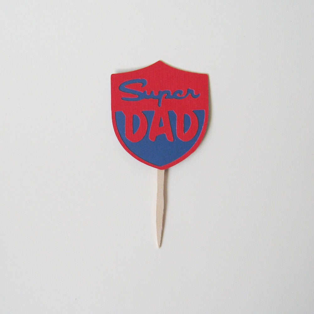 Image of Super Dad Toppers - Set of 12