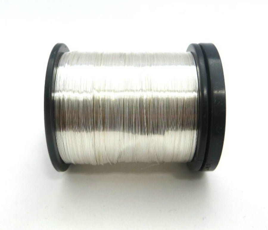 Image of Silver plated copper jewellery wire - 0.25mm wire reel 35grams