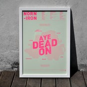 Image of Norn Iron A3 Risograph Print (Neon Pink on Apple Green)