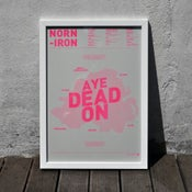 Image of Norn Iron A3 Risograph Print (Neon Pink on Grey)