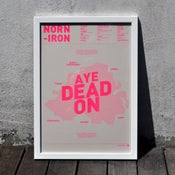 Image of Norn Iron A3 Risograph Print (Neon Pink on Cream)