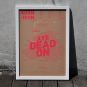 Image of Norn Iron A3 Risograph Print (Neon Pink on Brown)