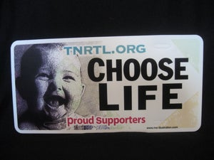 Image of Choose Life Front Plate