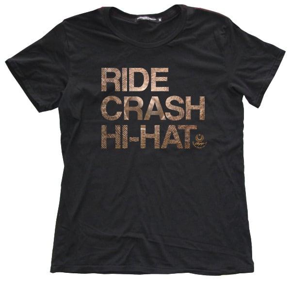 "Image of Agop ""Ride Crash Hi-Hat"" Tee - Black"