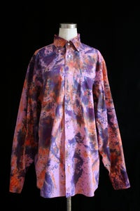 "Image of Dress Shirt, Pink ""Fireworks"" Pattern"