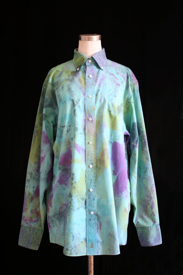 "Image of Dress Shirt, Parakeet ""Blow Out"" Pattern"