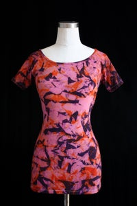 "Image of Shirt, Pink ""Magmatic Earthquake"" Pattern"