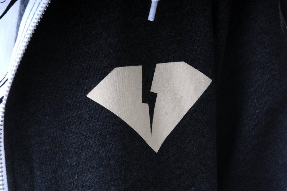 Cross Bones Zip-up Hood