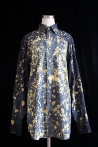 "Image of Dress Shirt, Black ""The Universe is Expanding"" Pattern"