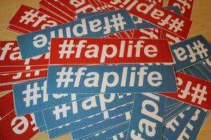 Image of #faplife Sticker (original)