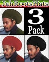 Jah Roots Stretch Hat 3 Pack (Olive, Red, & Black)