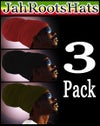 Jah Roots Ready Wraps 3 Pack (Red, Black, & Olive)