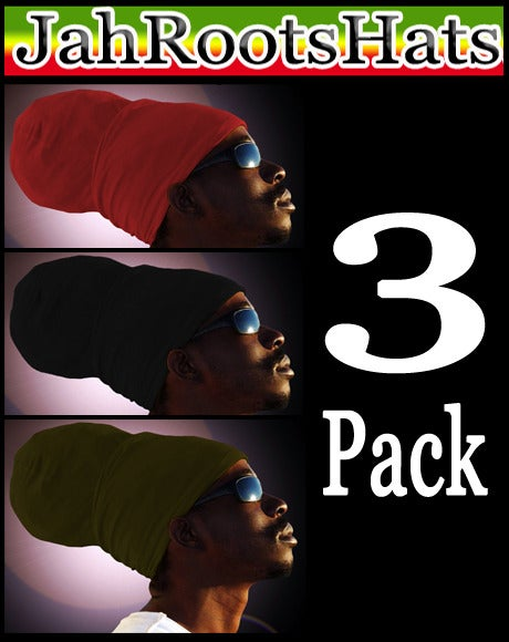 Image of Jah Roots Ready Wraps 3 Pack (Red, Black, & Olive)