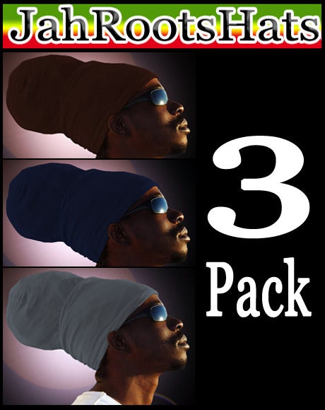 Image of Jah Roots Ready Wraps 3 Pack (Brown, Navy, & Gray)