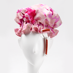 Image of Showercap white with large pink flowers - big size