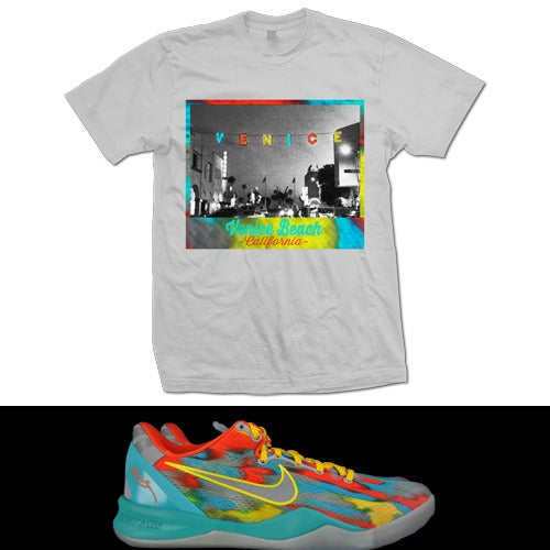Image of KOBE 8 VENICE BEACH T SHIRT - GREY