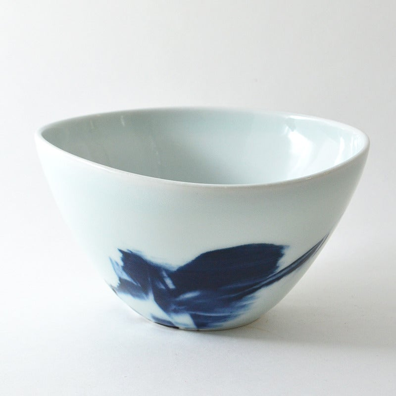 Image of altered blue and white bowl