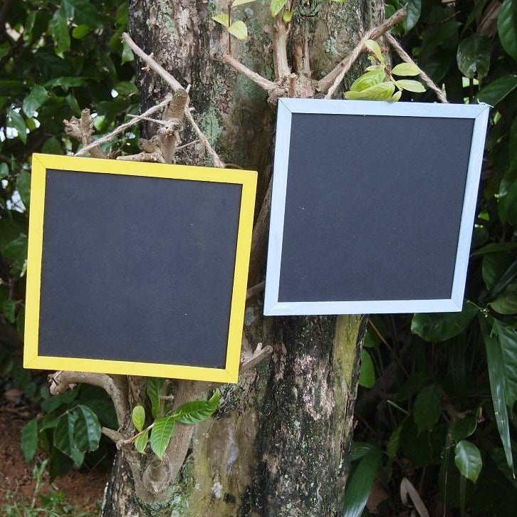 Square Chalkboard with Coloured Frame