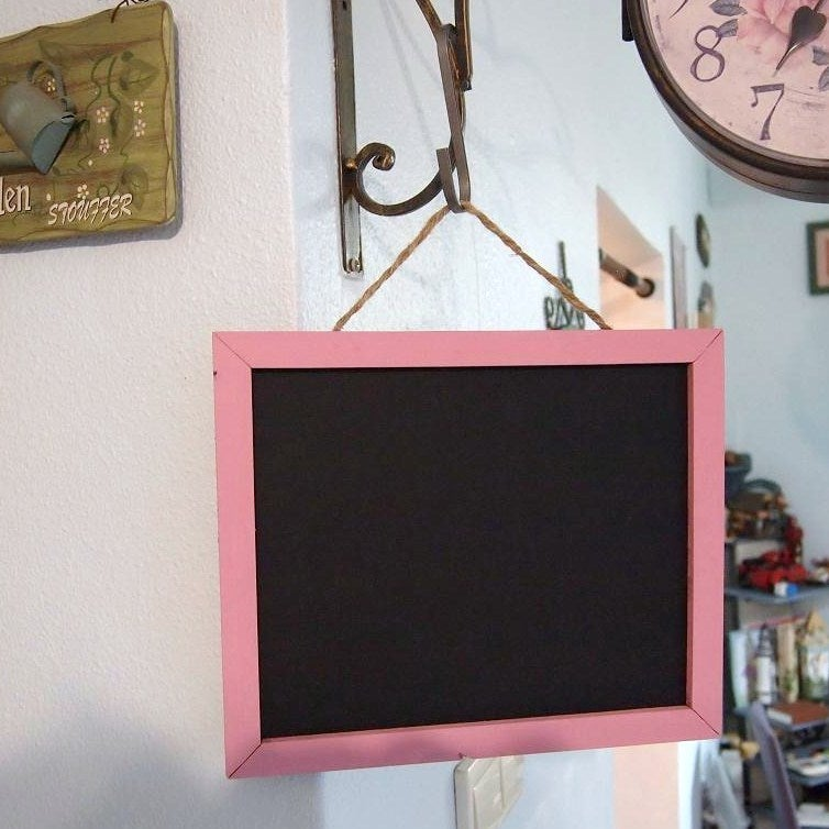 Image of Small Size Chalkboard with Brown/Pink Border