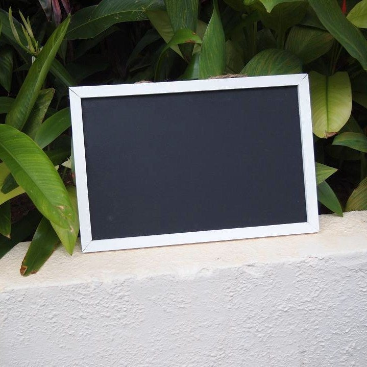 Image of Chalkboard with White Weathered Frame