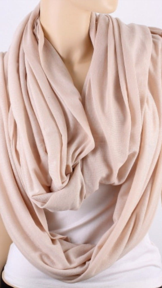 Image of Solid Jersey Infinity Scarf