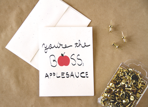 Image of You're the boss, applesauce