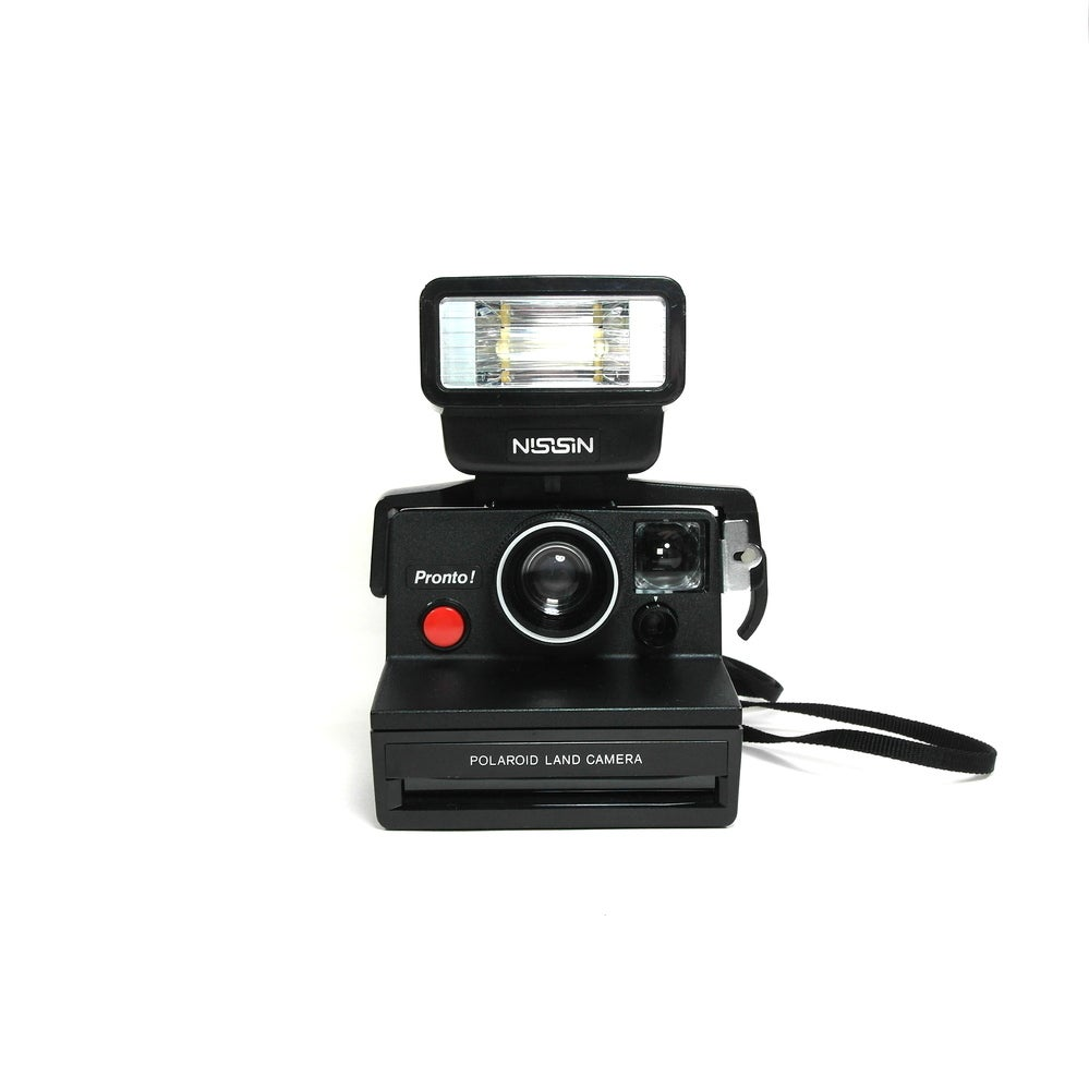 Image of Polaroid SX-70 Pronto Land Camera + Flash