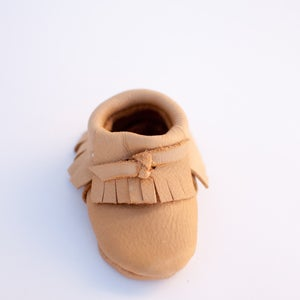 Image of Tan Leather Moccasins