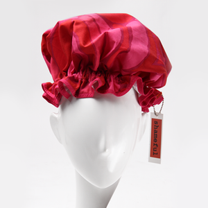 Image of Showercap retro pink and red - regular size