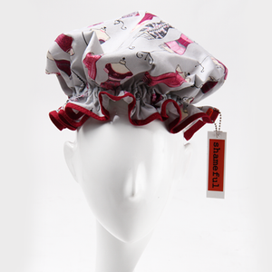 Image of Showercap grey with pink mannequins - regular size
