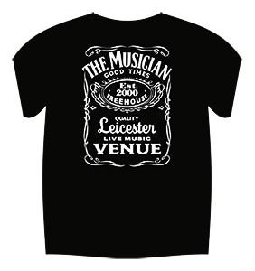 Image of Jack Daniels Style T-Shirt (Black)
