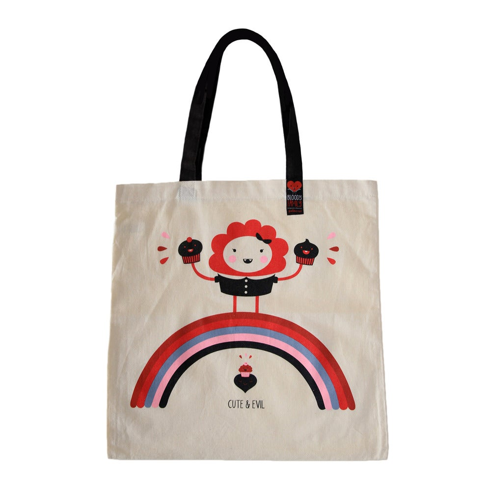 Image of Cute & Evil Cupcake / TOTE BAG