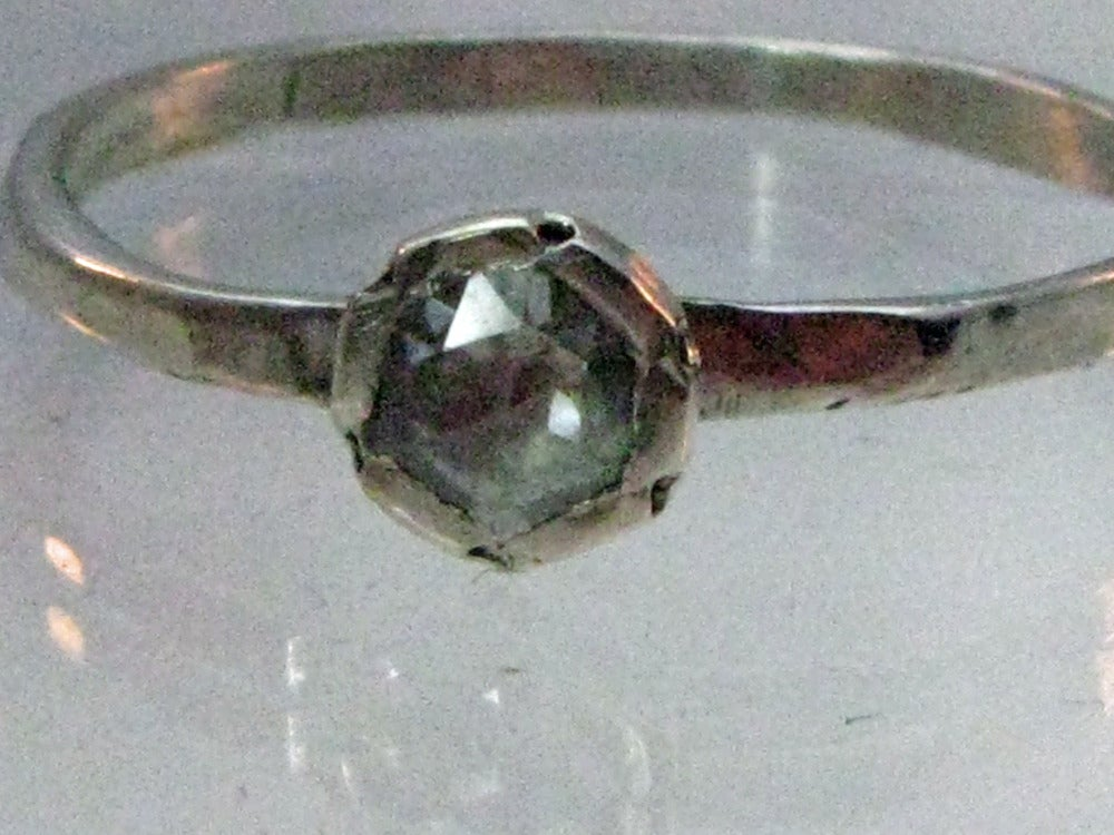 Image of Handmade Rose-Cut Diamond Engagement Ring.  Rustic
