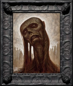 Image of ZOMBIE- Limited Edition Canvas Giclee w/ Custom Frame