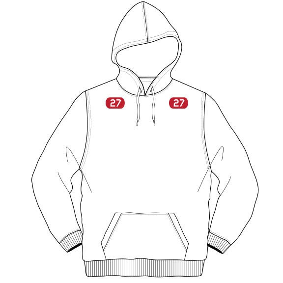 Image of Adult Kemp's Kids 27 Hoodie (White)
