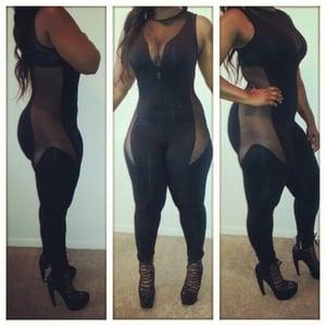 Image of Black Mesh Bodysuit